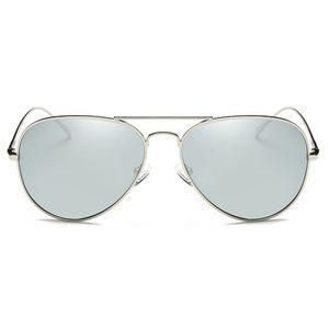 Calle Ocho - Polarized Silver Avaitor Sunglasses